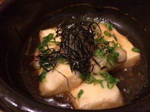 Tofu with Shimeiji Mushroom