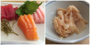 Sashimi and Amazu Shoga (Japanese Pickled Ginger)