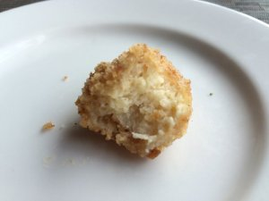 Deep-Fried Coconut Bread Pudding