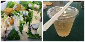 Caesar Salad and Ginger Ale