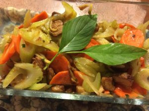 Stir-Fried Celery and Carrot