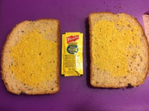 Healthy Bread and Yellow Mustard