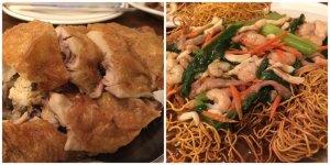 Crispy Skinned Chicken Crispy Seafood Noodle