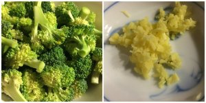 Broccoli Florets, Chopped Ginger
