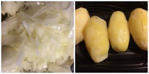 Chopped Onions and Steamed Potatoes