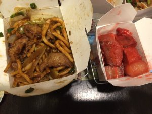 Fried Noodles and Kau Yuk