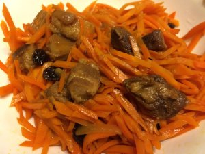 Sautéed Carrot with Lu Rou and Raisins