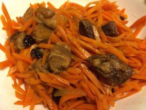 Sautéed Carrot with Lu Rou and Raisins