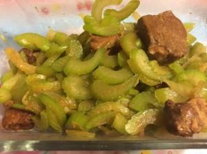 Sautéed Celery with Shoyu Pork