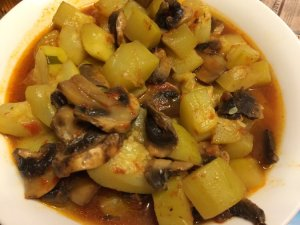 Zucchini and Mushroom Stew, Ketchup Flavor