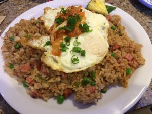 Kim Chee Fried Rice with Two Eggs