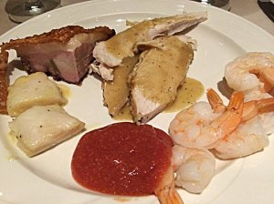 Fish, Roast Pork, Roast Turkey with Gravy, and more Shrimp Cocktail