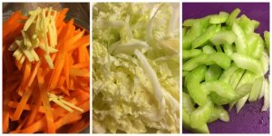 Ginger, Carrot, Napa Cabbage, Celery