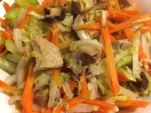 Turkey and Veggie Chop Suey/Stir-Fry with Dried Mushroom