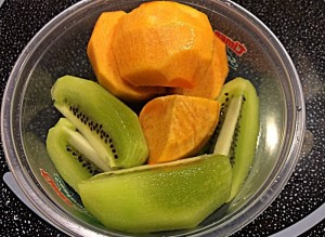 Persimmon and Kiwi