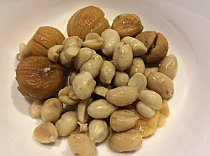 Steamed Dried Chestnuts and Boiled Peanuts