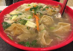 Chicken Noodle Soup - Chinese Style with Pickled Vegetables