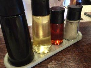 Shoyu Vinegar Chili Oil White Pepper