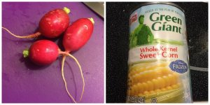 Radish, Canned Corn