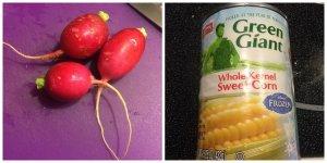 Radish, Canned Corn