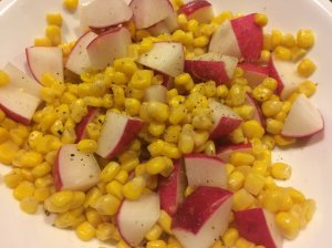 Radish and Corn Salad