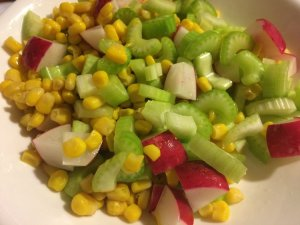 Radish, Corn, and Celery Salad