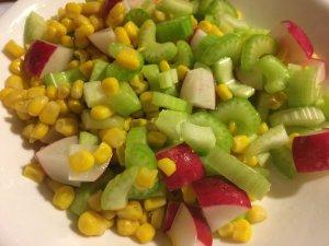 Radish, Corn, and Celery Salad