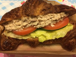 Tuna Salad on Whole Wheat Croissant