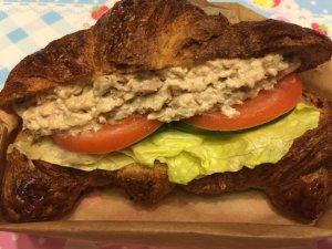 Tuna Salad on Whole Wheat Croissant