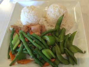 Long Bean and Chicken Lunch Plate