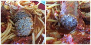 Sausage and Meatball Closeup