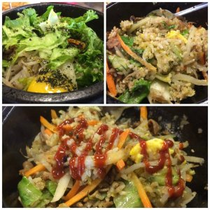 The Mouse's Spicy Pork Bibimbap on Brown Rice