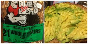 Mouse's Dinner - Avocado on Dave's Killer Bread (Toasted)