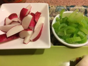 Radish Wedges and Boiled Celery