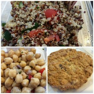 Quinoa Salad Garbanzo Bean Salad Oatmeal Cookie