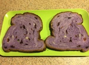 Taro and Cranberry Bread