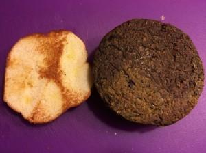 """Taro """"Burger"""" on Toasted Bun"""