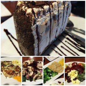 Mud Pie Crab Cake Salad Bar Vegetable Trio