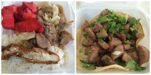 Combo Plate - Kau Yuk and Kalua Pork Cabbage Pork Taco