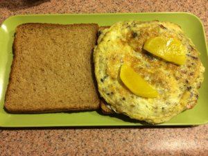 Preserved Fish Omelet Sandwich
