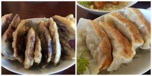 Okinawan Sweet Potato Tempura Pan-Fried Chicken Dumpling