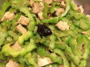 Add black bean garlic sauce, approx. 1 tablespoon