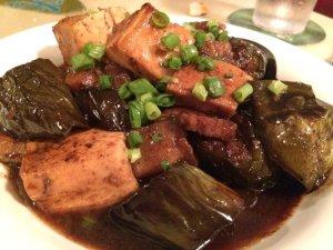 Nasubi (Eggplant) with Shoyu Pork Chanpuru