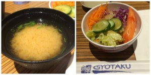 Miso Soup, Side Salad