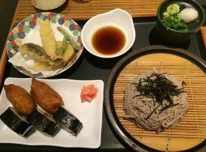 Zaru Soba, Inari, Norimaki, Tempura