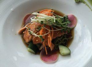 Salmon and Soba