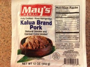 Package of Kalua Pork