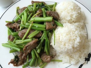 Ong Choi with Beef (Rice included)