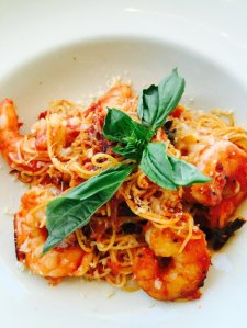 Spicy Shrimp and Angel Hair Pasta