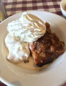 The Mouse's Pineapple Upsidedown Bread Pudding with Vanilla Ice Cream
